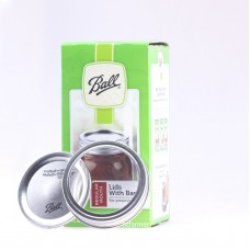 Ball Mason REGULAR Mouth Jar Lids and Bands Preserving Canning- Box of 12