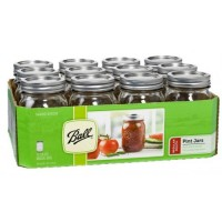12  x Pint REGULAR Mouth Jar and Lid Ball Mason Case CLEAR OUT OF STOCK INDEFINITELY