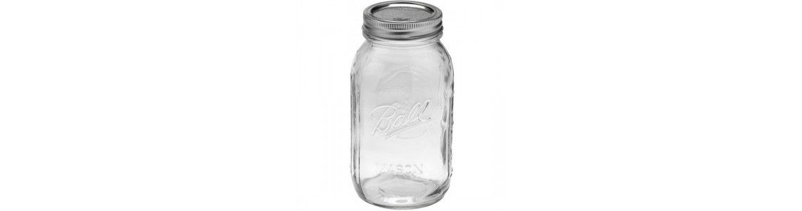 Clear Regular Mouth Ball Mason  Jars
