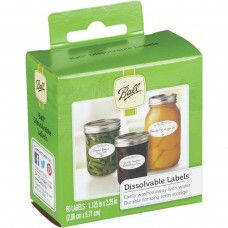60 x Ball Mason Jar Dissolvable Labels OUT OF STOCK INDEFINITELY