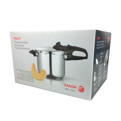 Fagor Duo 6 Stainless Steel Pressure Cooker 6l
