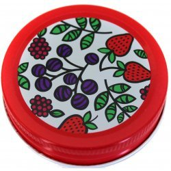6 x Fruit Decorative Orchard Road Canning Cap - Regular Mouth