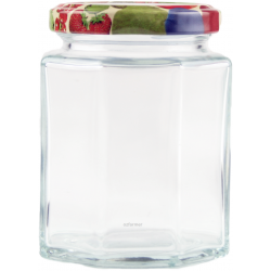 190ml Octagonal Rex Jars with Fruit Pattern Lids - Pack of 6