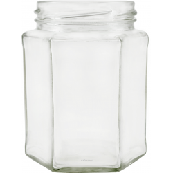 278ml Hexagonal Jars - Pack of 6 - Lids not included