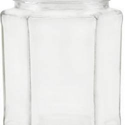 278ml Hexagonal Jars - Pack of 6 - Lids not included