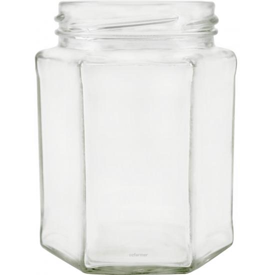 278ml Hexagonal Jars - Pack of 6