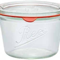 1 x 370ml Weck Rex Tapered Jar  Complete - Single R01370