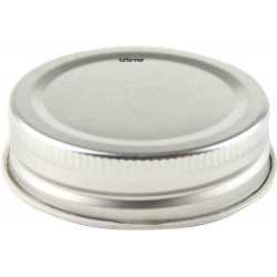 56mm SCREW TOP  lids High Heat Suit Bormioli Rocco - Silver
