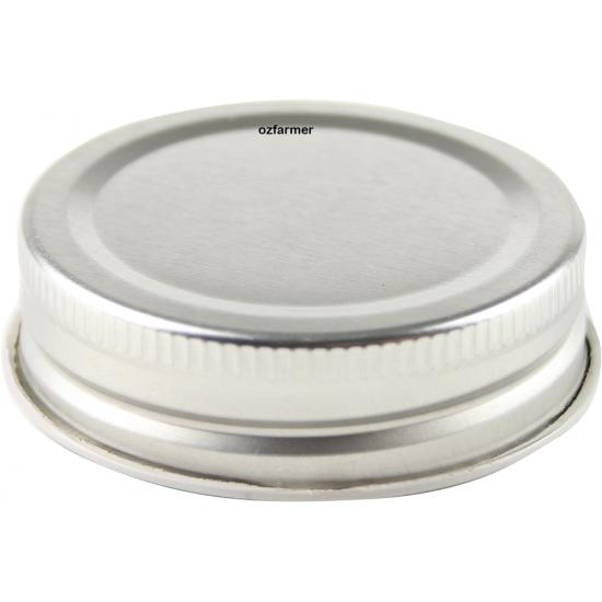 56mm Screwtop lids High Heat Suit Bormioli Rocco - Silver