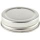 56mm SCREW TOP  lids High Heat Suit Bormioli Rocco - Silver