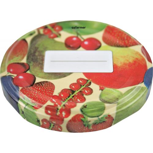 58mm TWIST TOP Lids with Field Fruit Pattern