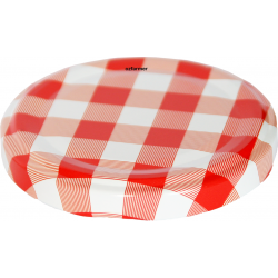 63mm Twist top lids Red/White High Heat
