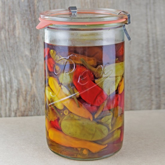 1,050ml (1 litre) Weck Rex Tapered Jar- Case of 6