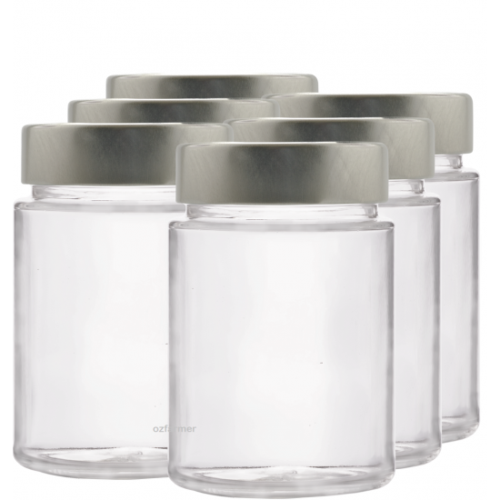 195ml Rex Jar with Lid - Pack of 6