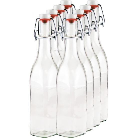 250ml 8 pack Rex juice bottles with Swing Top