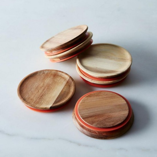 Small Wooden Lids with Seal to Suit Weck Jars Multi Pack