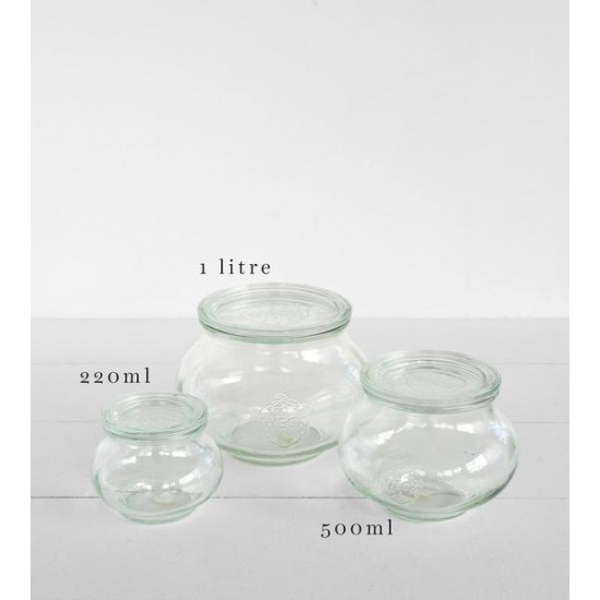 12 x 220ml Weck Deco Jars - 902