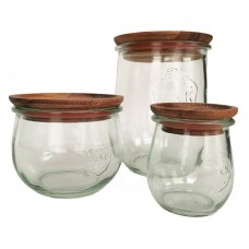 Large Wooden Lids with Seal to Suit Weck Jars Multi Pack 12