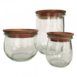 Large Wooden Lids with Seal to Suit Weck Jars Multi Pack Weck
