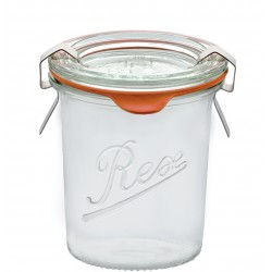 6 x  140ml Weck Rex Mini Tapered Jars