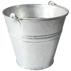 Metal Bucket Galvanised 11L Farming Supplies