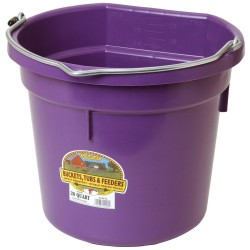 Bucket Plastic Flat Back 19L