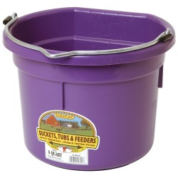 Plastic Bucket Flat Back 8L