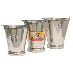Stainless Bucket Cowbell 7, 10 or 13 litres  No Lid