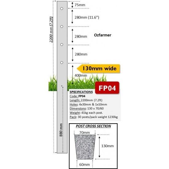 130mm Concrete Fence Posts