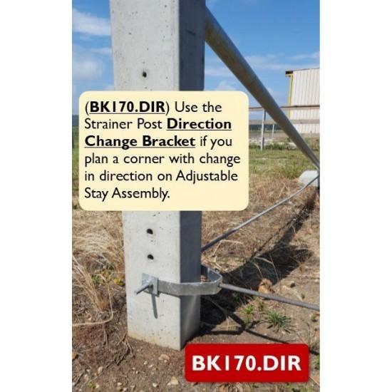 Direction Change Bracket for Straining Assembly