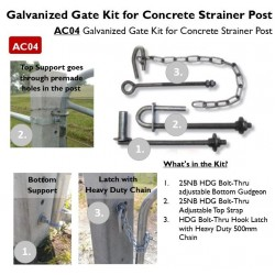 Gate Assembly For Concrete Post