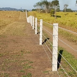 110mm Notched Concrete Fence Post