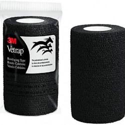 Vetrap Superior Cohesive Elastic Bandage 10cm wide 3M USA Made BLACK