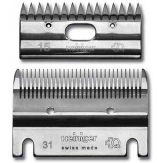 Clipper Blade Heiniger set 31-15 Standard Clipping Horses