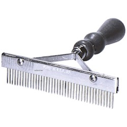Grooming Comb T-style with Wooden Handle