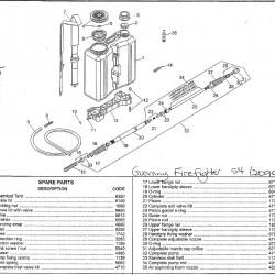 Guarany Fire Fighter 20L Knapsack Sprayer Spare Hose