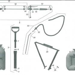 Guarany Knapsack Sprayer Adjustable Tips 6 pack  Spare parts