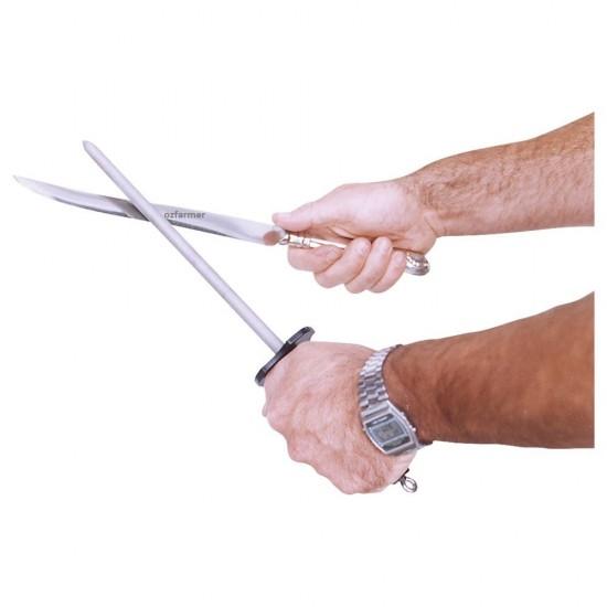 Diamond Sharpener Steel 10 inch with Plastic Grip