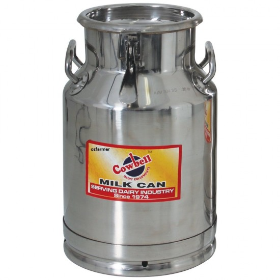 Milk Billy Can 20  or 40 litre with Sealable lid