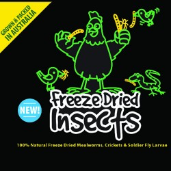 Freeze-dried Australian insects 250g - suit poultry, birds, reptiles