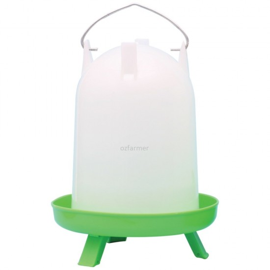 Poultry / Chicken Water Drinker With Legs Straight Crown 4 or 8 litres