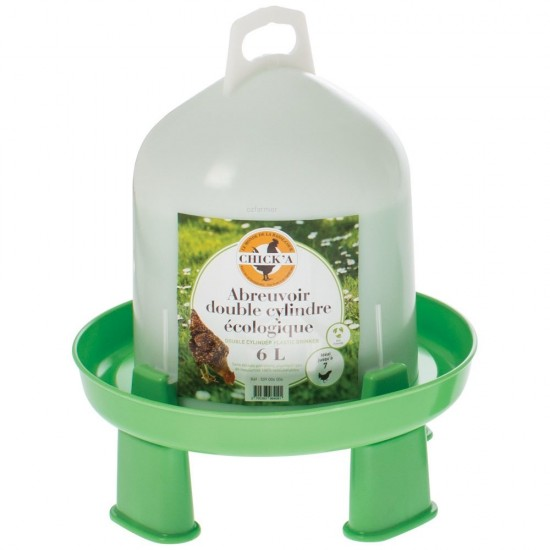 Poultry Drinker with Legs Chicka Eco-Easy 100% Natural