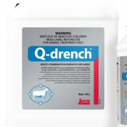 10 Litre bottle Jurox Q-Drench all round drench for sheep and goats