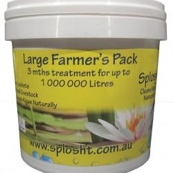 Splosht Large Farmers Pack Dam Fish Farm Natural Water Cleaner