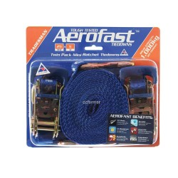 1,000kg break strength 25mm x 5m  Ratchet Tiedown Twin Pack Aerofast