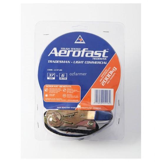 2,000kg break strength 37mm x 6m Light Commercial Ratchet Tiedown Aerofast