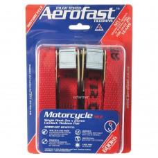 Motorcycle 25mm x 2m  Camlock Tiedown Aerofast 600kg break strength Twin Pack