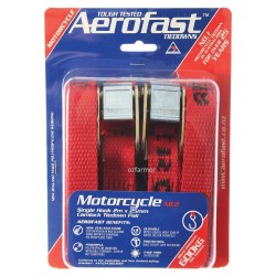 Motorcycle 25mm x 2m  Camlock Tiedown Aerofast 600kg break strength Twin Pack Imported