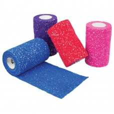 PetFlex Glitter Cohesive Elastic Bandage 10cm wide