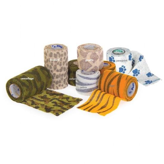 Petflex Safari Series Cohesive Elastic Bandage 10cm wide
